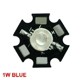 1W 1 Watt Blue High Power Star LED Lamp Light 15-30LM