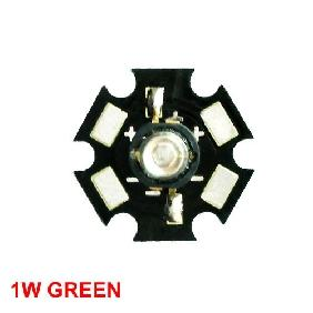 1W Green High Power Star LED Lamp Light 80LM-100LM
