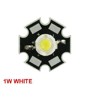 1W White High Power Star LED Lamp Light 80-90LM