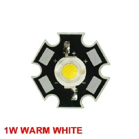 1W Warm White High Power Star LED Light 80LM