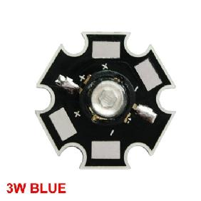 Blue High Power Star LED Lamp Light 3W 3 Watt 30 ~ 80LM