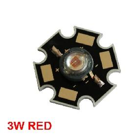 Red High Power STAR LED Light Bulb 3W 3 Watt 60-100LM