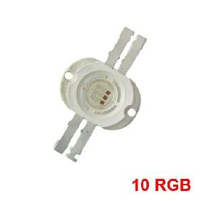 10W RGB High Power LED 4 Brackets