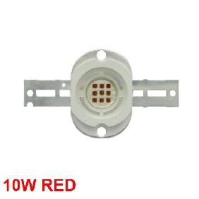 10W Red High Power LED Round Version