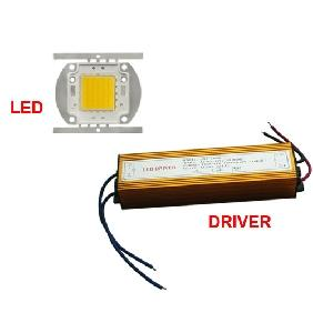 1x 50W Warm White LED + 1x Power Driver AC 85V-265V