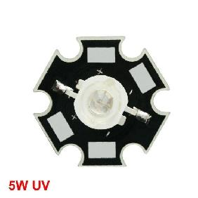 5W 5 Watt Ultra Violet UV High Power LED Light 380nm-385nm
