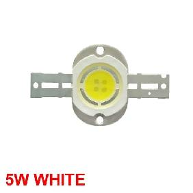 5W White High Power LED Light Round Shape