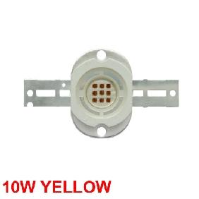 10W Yellow High Power LED Round Version