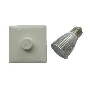 E27 9W White Dimmable Led Light Spot Lamp 3x 3W + Led Dimmer