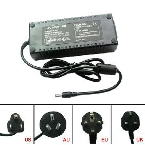 12V 10A 120W AC/DC Adapter Plug Core Power Supply Universal with AU/EU/UK/US Plug