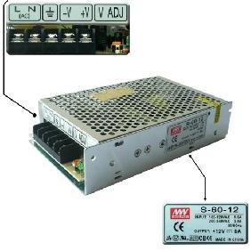 12V 5A DC Universal Regulated Switching Power Supply 60W