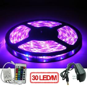 Wholesale 5M 5050/5060 SMD RGB LED Light Strip + Controller + Power Supply