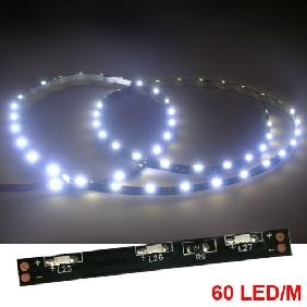 100cm White/Warm White/Red/Green/Blue/Yellow 335 SMD 60 LED Flexible Strip Side Light 12VDC non-waterproof