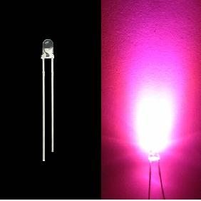 Wholesale 3mm 3000mcd Pink LED Lamp Light Bulb