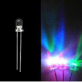 5mm 5000mcd Red Green Blue Fast Flash LED Lamp Light Bulb