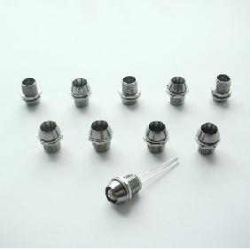 Wholesale 5mm LED Mount Holder Copper Chromed with Spring Washer, Nut and Plastic Cup