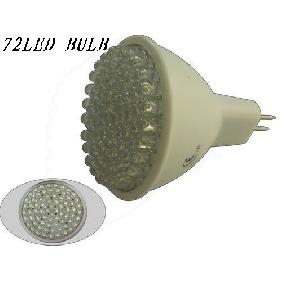 Wholesale MR16 72 LED White Light Bulb Wide Angle Flood Lamp 12V