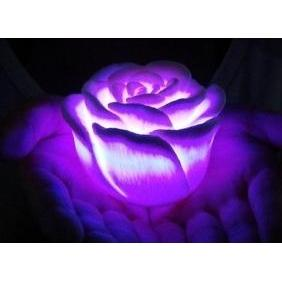 Wholesale 7 Color Change Electronic LED Rose lovely Candle Light for Christmas Present