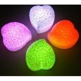 Wholesale LED Colorful LOVE Heart Flameless Rose Night Lamp Light