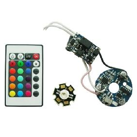 3W HIGH POWER RGB Color Change LED + AC 85V-265V DRIVER