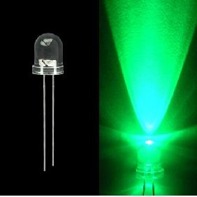 Wholesale 8mm 20000mcd Green LED Lamp Light Bulb