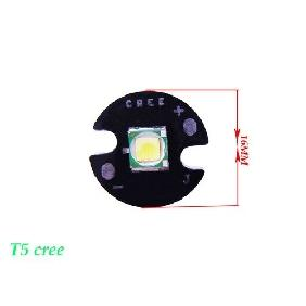 Cree Xlamp XM-L T5 Cree White LED Light 10W 800 Lumens 3.7V 16MM