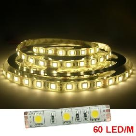 COOL WHITE/WARM WHITE 5050/5060 LED LIGHT STRIP 500CM 300LED BULB 12VDC