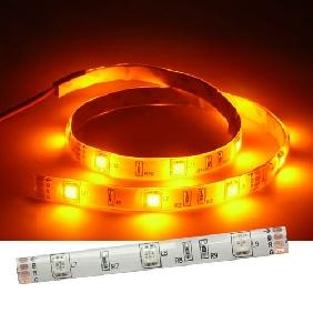 100cm Yellow 5050/5060 White Back Flexible & Waterproof LED Strip Light