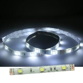 100cm White Light 5050/5060 White Back Flexible & Waterproof LED Strip (30 LED/M)