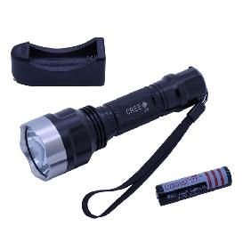 CREE Q5 White Led Light Flashlight Torch Waterproof Powered by 18650 Battery