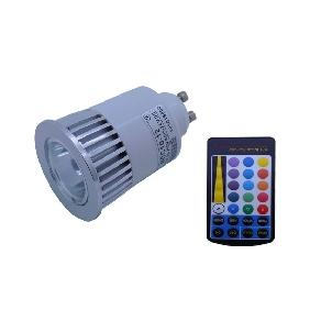 Wholesale 5W Multicolor RGB Led Light Bulb Lamp Rainbow Effect GU10 + Remote Control