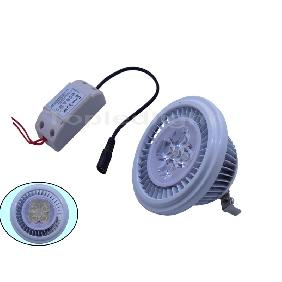 White AR80 5*1W High Power LED Lamp +  Constant Current Driver 350mA