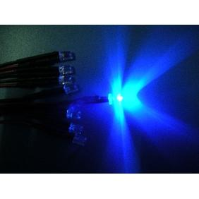 5mm Blue Wide Angle Flat Top Led Pre Wired 12V DC