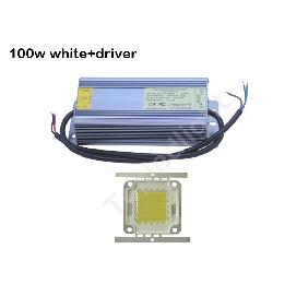 120W Ultra Bright White or Warm White High Power LED Light + Waterproof AC Driver