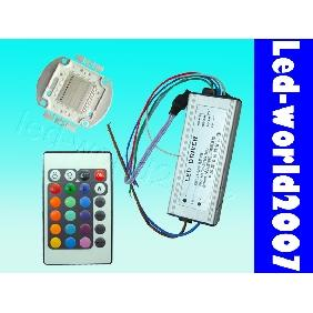 30W RGB High Power LED + AC Driver + Remote Control DIY