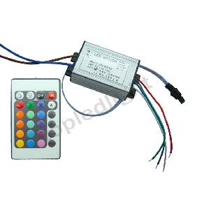 10W RGB Flash Multicolor High Power LED Driver + Remote Control