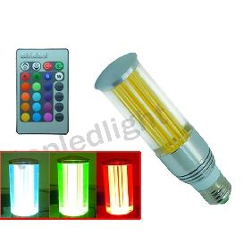 Wholesale 3W 3 Watt RGB Flash Multicolor LED Light Bulb Lamp E27 + Remote Control