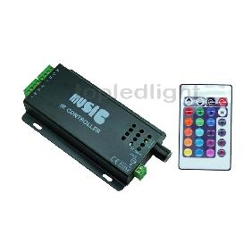 Music IR Controller Remote 2 Port For RGB LED Strip Light or RGB Spot Light 12V