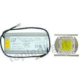 150W Ultra Bright White High Power LED Light + Waterproof Driver AC 100V-240V
