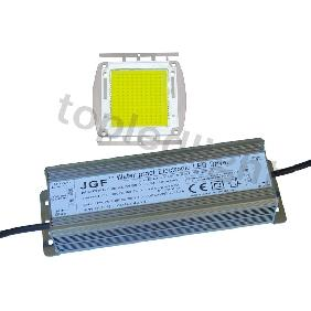 150W White High Power LED Light 17000 Lm + Waterproof Driver 30V-36V 4.5A