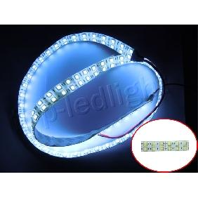 1m White 5050 SMD LED Bulbs Double Row Line Light Strip 12V