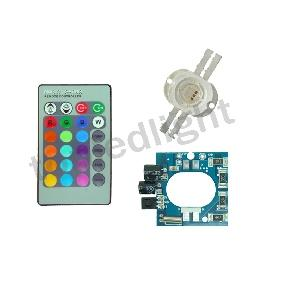 10W RGB Flash Multicolor LED Light + DC 12V Driver + Remote Control