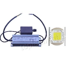 50W White High Power LED Light + Dimmable LED Driver Power Supply