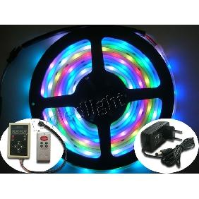 5m 5050 SMD 6803 IC Dream-Color RGB LED Strip + 1680 Controller + Power Supply