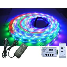 5M Dream Color 1809 IC LED Strip Light + Remote Control + Power Supply