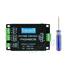 PX24506 DMX512/199​0 Decoder Controller 3 Channels for RGB LED Light DC 12V-24V
