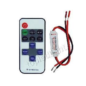 Mini Dimmer Wireless Remote Controller for Single Color LED Strip Light DC5V-24V