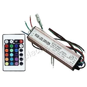 30W 30 Watt RGB High Power LED Driver AC90V-265V + 16 Colors IR Remote Controller