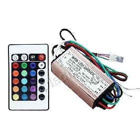 10W RGB Multicolor High Power LED Driver Infrared IR Remote Controller