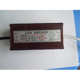 30 Watt LED Driver Waterproof Input Voltage DC 12V-24V for 30W High Power LED